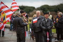 Participantes que celebran Día de la Independencia nacional una República de Polonia Foto de archivo