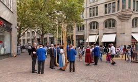 Participantes suizos del desfile del día nacional Fotografía de archivo libre de regalías