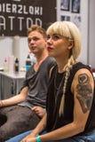 Participants à la 10ème convention internationale de tatouage au centre de Congrès-EXPO Images libres de droits