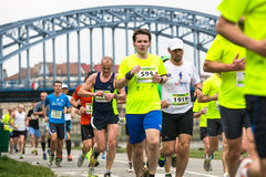 Participants during the annual Krakow international Marathon. Royalty Free Stock Photography