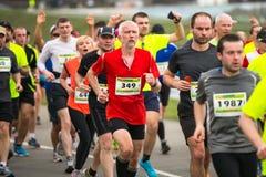 Participants during the annual Krakow international Marathon. Stock Image
