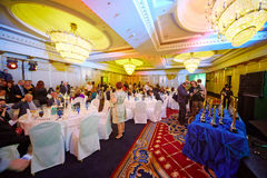 Participants of Annual national award ceremony. MOSCOW - MAY 29: Participants of Annual national award ceremony Financial Olympus in banquet hall of Hotel Ritz Royalty Free Stock Images