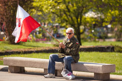 Participants annual of Polish national and public holiday the May 3rd Constitution Day Stock Photos