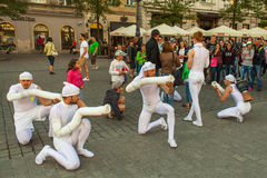 Participants at the annually (Jul 9-12) 28th International Festival of Street Theatres Stock Images