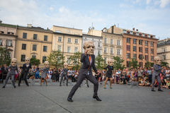 Participants at the annually (July 9-12) 28th International Festival of Street Theatres. KRAKOW, POLAND - JUL 12, 2015: Participants at the annually (Jul 9-12) Stock Photography