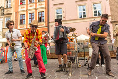 Participants at the annually (July 9-12) 28th International Festival of Street Theatres Royalty Free Stock Image