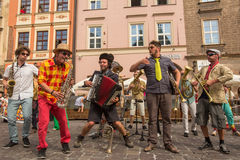 Participants at the annually (July 9-12) 28th International Festival of Street Theatres Stock Photography