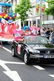 Participants au festival 2010 de fierté de Dublin LGBTQ Image libre de droits
