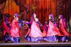 Participants of Bellydance Superiority of Moscow dance Stock Photography