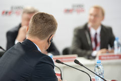 Participants of business conference Royalty Free Stock Photos