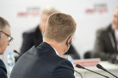 Participants of business conference Stock Photography