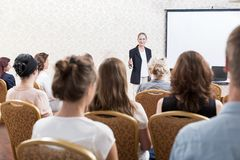 Participants of business seminar Royalty Free Stock Images