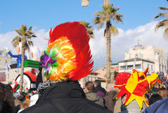 Participants of carnival of Viareggio Royalty Free Stock Images