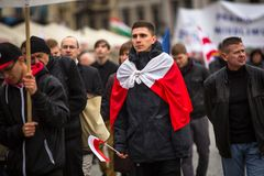 Participants celebrating National Independence Day of Poland Royalty Free Stock Image