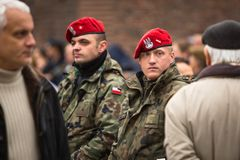Participants celebrating National Independence Day of Poland Stock Photography
