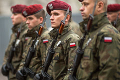 Participants celebrating National Independence Day an Republic of Poland Stock Image