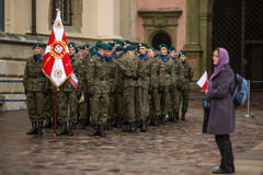 Participants celebrating National Independence Day an Republic of Poland Stock Photo