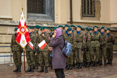 Participants celebrating National Independence Day an Republic of Poland Stock Photography