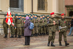 Participants celebrating National Independence Day an Republic of Poland Royalty Free Stock Photos