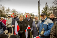 Participants of the ceremony,, National day of remembrance of th. The ceremony dedicated to the soldiers cursed took place today also in Rembertów, at the Stock Photography
