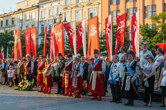 Participants of ceremony is the vow of first classes of the Jan III Sobieski High School Stock Photo
