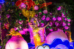 Participants Chingay Parade. Parade is ranked as largest street festival in Asia. SINGAPORE - JAN 19, 2016: Unidentified participants Chingay Parade. Parade is Royalty Free Stock Images
