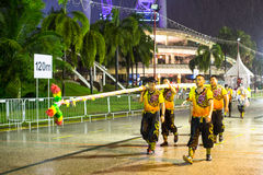Participants Chingay Parade. Parade is ranked as largest street festival in Asia. SINGAPORE - JAN 19, 2016: Unidentified participants Chingay Parade. Parade is Stock Photos