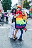 Participants of Christopher Street Day 2014 in Stuttgart, Germany. Stuttgart, Germany - July 26, 2014: Participants of Christopher Street Day (CSD) parade, one royalty free stock photography