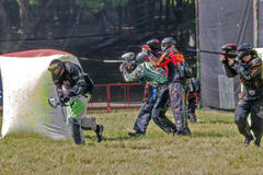 Participants of competitions paintball. Stock Image