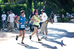 Participants completing the 21km Royalty Free Stock Images