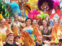 Participants at copenhagen carnival 2012 Royalty Free Stock Images