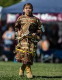Pow Wow Dancer. Participants dancing Native American style at the Stillwater Pow Wow in Anderson, California royalty free stock photography