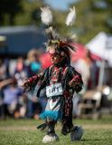 Pow Wow Dancer. Participants dancing Native American style at the Stillwater Pow Wow in Anderson, California royalty free stock photos