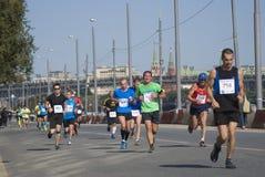Participants de 5ème marathon de Moscou Photographie stock libre de droits