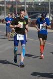 Participants de 5ème marathon de Moscou Image libre de droits