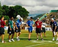 Participants 2001 de défi de NFL QB Image libre de droits