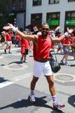 Participants de Delta Airlines LGBT Pride Parade à New York City Photo libre de droits
