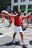 Participants de Delta Airlines LGBT Pride Parade à New York City Image stock