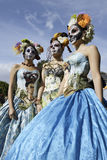 Participants during dia de Muertos Royalty Free Stock Image