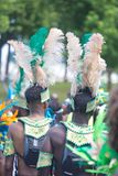Participants dressed in costumes during annual Caribana Parade Royalty Free Stock Image