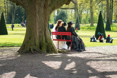 Participants of the Elf Fantasy Fair  are resting and enjoying t Royalty Free Stock Images