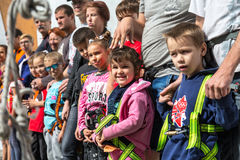 Participants of Family Climbing Competitions at opening ceremony Royalty Free Stock Images