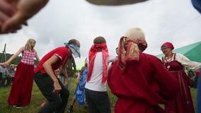 Participants of the Festival of folk culture Russian Tea. stock video footage