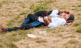 Participants of the festival Rozhen in Bulgaria on vacation Royalty Free Stock Photos