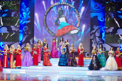 Participants of Festival of Talents and Beauty Beauty of Russia - 2011. MOSCOW - DEC 1: Participants of final of 17th National Festival of Talents and Beauty royalty free stock photography