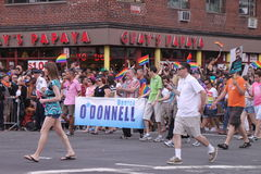 Participants in gay parade Royalty Free Stock Image