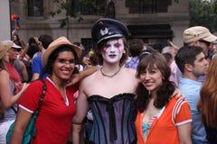Participants in gay parade Stock Photos