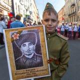 Participants of Immortal Regiment -  international public action Stock Photography