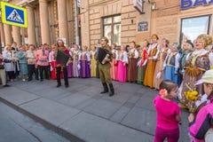 Participants of Immortal Regiment -  international public action Royalty Free Stock Photo