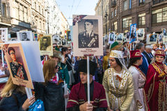 Participants of Immortal Regiment - public action Royalty Free Stock Photography